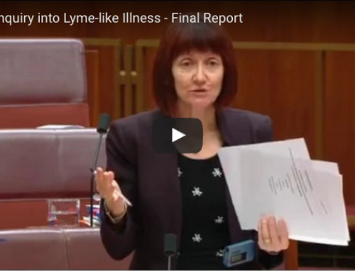 SENATE COMMITTEE RECOMMENDATIONS on LYME-LIKE ILLNESS in AUSTRALIA